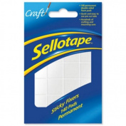 Sellotape Sticky Fixers Double-sided 12x25mm 140 Pads Ref 1445422 [Pack of 6]
