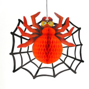 Smile YKK Halloween Paper Hanging Decoration Prop for Home Club Party Red