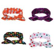 Dooppa 4PCS Girls Elastic Hair Band Hair Accessories
