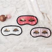 Sleeping Beauty Gold Sequin Sleep Eye Mask For Women Girls ~ Colour Vary