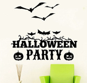 OverDose Halloween Stickers Home Household Mural Decor Decal PVC Wall Sticker 60 x 50cm