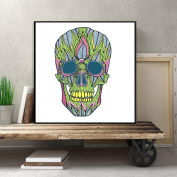 Kingko® Happy Halloween Theme Skull Canvas Technicolour Art Print Poster Household Wall Decor Home Decoration