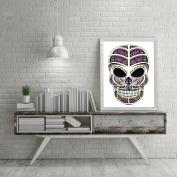 Kingko® Happy Halloween Theme Skull Canvas Technicolour Art Print Poster Household Wall Decor Home Decoration
