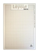 Artway - A3 Layout Pad - 60gsm - Acid-Free, Bleed-Resistant Paper - With Layout Grid - 35 Sheets