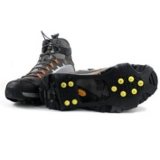 Medium - Ice Traction Universal Slip-on Stretch fit Snow and Ice Spikes (Grips, Crampons, Cleats) - 10 studs - Medium by CASCACAVELLE