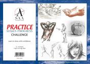 SAA 'Practise Makes Progress' Sketching Pad - 60 sheets 112gsm cartridge paper