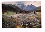 June in the Austrian Tyrol by John MacWhirter A4 print on 230gsm photo quality paper