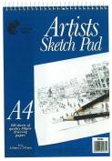 3 x Artists A4 Sketch Pad Wiro Bound - 100 Sheets