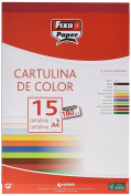 Fixo 11110656 – Pack of 15 Sheets of Card, A4, Carmine Red
