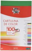 Fixo 11110422 – Pack of 100 Card, A4, Dark Green