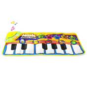 Coolplay Musical Paino Mat,Touch Play Keyboard Musical Music Singing Gym Carpet Blanket for Kids Baby Gift