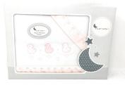 interbaby-sabanas Winter Pyrenees minicuna – (Fitted Sheet + Top Sheet + Pillowcase) patitos-blanco-rosa