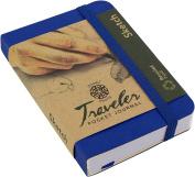 Pentalic Traveller Pocket Journal Sketch, 10cm x 7.6cm , Royal Blue