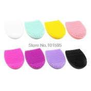 Lescorecor(TM)Silicone Makeup Brush Cleaner Cleaning Egg Brush Scourer Squeegee Cosmetic Brush Cleanser Make up Brush Cleaner Clean tools