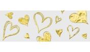 Ursus Style Transparent Paper Golden Heart 4008525120964