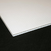 6mm White Correx Fluted Board A4 297 x 210 Correx Sheet Corrugated Plastic Sign