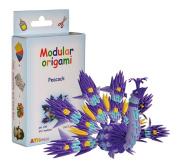 Modular Origami 316-Piece Small Peacock Paper Set, Multi-Colour