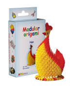 Modular Origami 296-Piece Small Hen Paper Set, Multi-Colour