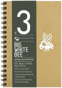 Bee Paper Company Big White Bee Drawing Pad, 23cm by 15cm , Black Charcoal