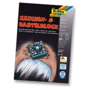 Folia Drawing & Folia Bringmann Craft Paper Block 130 g / M² A4 20 Sheets Black