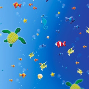 84001–Folia Transparent Paper with Printed Design Underwater 50.5 x 70 CM 115gsm 10 Sheets