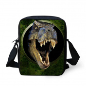 HUGSIDEA Dinosaur Messenger Bag Cool Fashion Men Cross Body Bags Travel Handbags Cell Phone Pouch