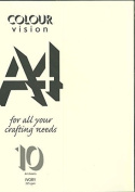 Ivory A4 Craft Card 225 gsm Sealed Pack of 10