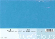 A5 Blue (3 varying shades) Coloured Card