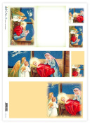 Accademia del Decoupage 32 x 45 cm 1-Piece Tissue Paper, Nativity with Angels
