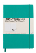 LEUCHTTURM1917 344999 Sketchbook Medium (A5) with white, extra strong 180 g/sqm paper, 96 pages, Emerald