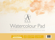 SAA Bockingford Watercolour Pad, 300gsm, Quarter Imperial, Hot Pressed