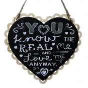 iTemer Blackboard Wooden Hanging Heart Wedding Love Gift Board Ornaments Chalkboard