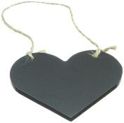 "CLUB GREEN Wooden Blackboard ""Heart"" Chalk, Black, 97 x 50 mm"