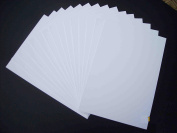 A1 Mount Board White (Pack of 10) 1500 microns white board backing modelling