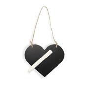 "CLUB GREEN Wooden Blackboard ""Heart"" Chalk, Black, 115 x 95 mm"