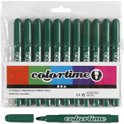 Colortime 12-Piece Colortime Marker, Dark Green
