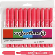 Colortime 12-Piece Colortime Marker, Pink