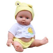 Careshine Baby Kids Reborn Baby Doll Soft Vinyl Silicone Lifelike Sound Laugh Cry Newborn Baby Toy for Boys Girls Birthday Gift