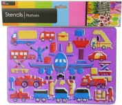 Childrens Kids Airport Stencil Set Art Craft School Imaginary Play by The Home Fusion Company