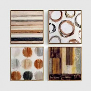 HJL Hand-Painted Landscape Oil Painting Five Panel Canvas Oil Painting Per Panel Size 30x50cm*2 30x70cm*2 & 30x90cm Total Cover Wall Size 150*90CM , include inner frame