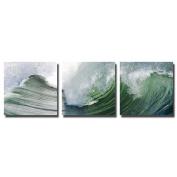 actua-concept tf180560cct Big Wave Canvas Multi-Coloured 65x65x12 cm