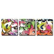 actua-concept ac33460cct Graff Canvas Multi-Coloured 65x65x12 cm