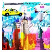 actua-concept af388xxl New York Colour Canvas Multi-Coloured 100 x 100 cm