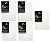 "5 x Chiltern Wove 16"" x 12"" 406mm x 305mm Primed Blank Artist Canvas Box Framed"