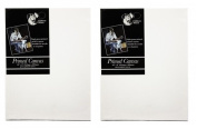 "2 x Chiltern Wove 16"" x 12"" 406mm x 305mm Primed Blank Artist Canvas Box Framed"