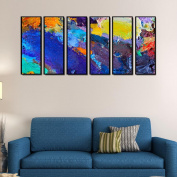 999Store multiple frames digitally printed laminated fibre framed printed multicolour abstract Indian Indian large Indian large big art panels wall painting-