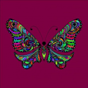 Colour-in Butterfly Design Pre-Stretched, 90 x 90 cm