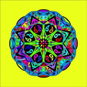 Mandala Design No. 5 for Pencils Stretched and and and and Quality Bar, 60 x 60 cm