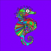 Seahorse Colouring Stretched, 60 x 60 cm