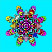 Mandala Colouring Picture # 6 Stretched, 60 x 60 cm